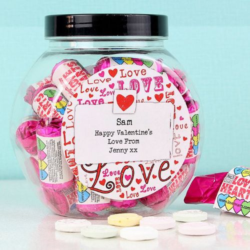 Personalised Lots of Loves Sweet Jar